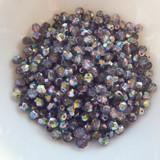 100 Beads - 4mm Firepolish - Magic Purple - Czech Glass