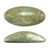 2 Pieces - Athos® Par Puca® Paris® 20x10mm - Opaque Light Green Turquoise New Picasso - Czech Glass Cab