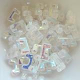 12 Beads - Telos® par Puca® Paris - Crystal AB - Czech Glass