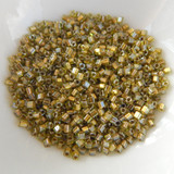 11/o TOHO Triangle Seed Beads 20 grams - Gold Lined Peridot - No. 991 Glass Beads