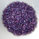 11/o TOHO Triangle Seed Beads 20 grams - Purple Lined Rosaline Rainbow - No. 928 Glass Beads
