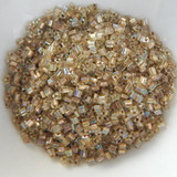 11/o TOHO Triangle Seed Beads 20 grams - Gold Lined Light Jonquil Rainbow - No. 998 Glass Beads