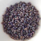 25 grams - TOHO Round 8/o - Matte Transparent Amethyst Rainbow - No. 166cf - Seed Beads