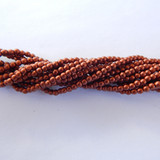 100 Beads - 2mm Druk - Matte Metallic Antique Copper - Czech Glass Rounds
