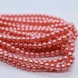 120 Beads - Blush - 4mm Round Czech Glass Pearl