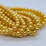 120 Beads - Sunglow - 4mm Round Czech Glass Pearl