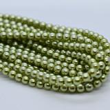 120 Beads - Olivine - 4mm Round Czech Glass Pearl
