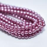 120 Beads - Fuchsia - 4mm Round Czech Glass Pearl