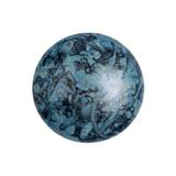Cabochon Par Puca® 18mm - Metallic Matte Blue Spotted - (1 Piece) Czech Glass Cab