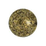 Cabochon Par Puca® 18mm - Metallic Matte Old Gold Spotted - (1 Piece) Czech Glass Cab
