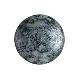 Cabochon Par Puca® 18mm - Metallic Matte Old Silver Spotted - (1 Piece) Czech Glass Cab