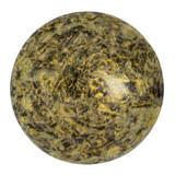 Cabochon Par Puca® 25mm - Metallic Matte Old Gold Spotted - (1 Piece) Czech Glass Cab