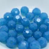 4 Beads - Caribbean Blue Opal - 8mm Round Swarovski 5000 Crystal Beads