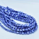 50 Beads - 5x3mm Pinch Saturated Metallic Ultra Violet Czech Glass