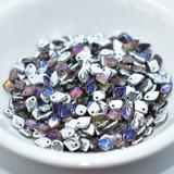 5mm Dragon® Scale Drop 5 grams Crystal Volcano Czech Glass Beads