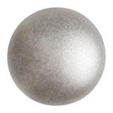 Cabochon Par Puca® 18mm - Metallic Matte Beige - (1 Piece) Czech Glass Cab