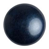 Cabochon Par Puca® 18mm - Metallic Matte Dark Blue - (1 Piece) Czech Glass Cab