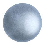 Cabochon Par Puca® 18mm - Metallic Matte Light Blue - (1 Piece) Czech Glass Cab