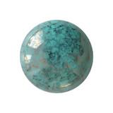 Cabochon Par Puca® 18mm - Opaque Green Turquoise Bronze - (1 Piece) Czech Glass Cab