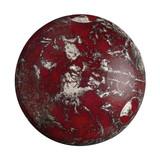 Cabochon Par Puca® 25mm - Opaque Coral Red New Picasso - (1 Piece) Czech Glass Cab