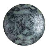 Cabochon Par Puca® 25mm - Metallic Matte Old Silver Spotted - (1 Piece) Czech Glass Cab