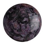 Cabochon Par Puca® 25mm - Metallic Matte Violet Spotted - (1 Piece) Czech Glass Cab