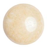 Cabochon Par Puca® 25mm - Opaque Beige Ceramic Look - (1 Piece) Czech Glass Cab