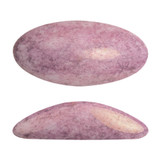 2 Pieces - Athos® Par Puca® Paris® 20x10mm - Opaque Light Rose Ceramic Look - Czech Glass Cab