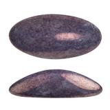 2 Pieces - Athos® Par Puca® Paris® 20x10mm - Opaque Mix Amethyst Gold Ceramic Look - Czech Glass Cab