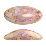 2 Pieces - Athos® Par Puca® Paris® 20x10mm - Opaque Mix Rose Gold Ceramic Look - Czech Glass Cab