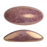 2 Pieces - Athos® Par Puca® Paris® 20x10mm - Opaque Mix Violet Gold Ceramic Look - Czech Glass Cab