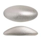 2 Pieces - Athos® Par Puca® Paris® 20x10mm - Metallic Matte Beige - Czech Glass Cab