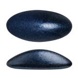 2 Pieces - Athos® Par Puca® Paris® 20x10mm - Metallic Matte Dark Blue - Czech Glass Cab