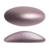 2 Pieces - Athos® Par Puca® Paris® 20x10mm - Metallic Matte Dark Plum - Czech Glass Cab