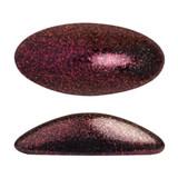 2 Pieces - Athos® Par Puca® Paris® 20x10mm - Metallic Matte Dark Violet - Czech Glass Cab