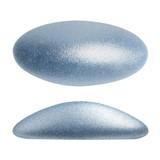 2 Pieces - Athos® Par Puca® Paris® 20x10mm - Metallic Matte Light Blue - Czech Glass Cab