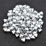 Kheops® par Puca® (25 Beads) Silver Aluminum Matte 6mm 2-Hole Triangle Shape Glass