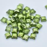Wibeduo® (25 Beads) - Olive Metallic Ice - 8mm x 8mm 2-hole Czech Glass
