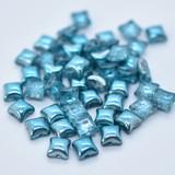 Wibeduo® (25 Beads) - Marine Metallic Ice - 8mm x 8mm 2-hole Czech Glass
