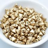Kheops® par Puca® (25 Beads) Light Gold Matte 6mm 2-Hole Triangle Shape Glass