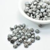 30 Beads - 6mm Roseta, 2-Hole Cab - Vacuum Plated Full Chrome - Czech Glass