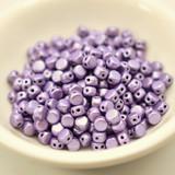 Kalos® par Puca® (50 beads) 2-Hole 4x3mm Drum Shape - Metallic Matte Purple - Czech Glass