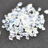 50 Beads - GemDuo Mini 4x6mm Two Hole - Crystal AB - Czech Glass