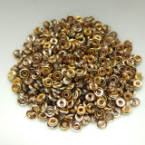 Czech Glass O Bead Crystal Antique Bronze 5 grams
