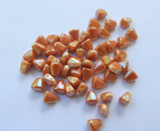Nib-Bit Two Hole 6x5mm Chalk Full Apricot 10 grams Czech Glass Beads