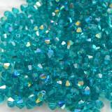 Preciosa 4mm Bicone M.C. Crystal Blue Zircon AB  (24 Beads)