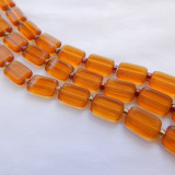 8x12mm Rectangle Table Cut Topaz Czech Glass (10 beads)