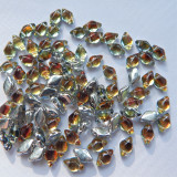 40 Beads - Gemduo Two Hole Beads Backlit Tequila Czech Glass Bead