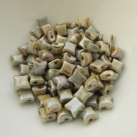 Wibeduo® (25 Beads) Chalk Blue Luster 8mm x 8mm 2-hole Czech Glass