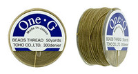 Sand Ash TOHO One-G Nylon Beading Thread 50 Yard Spool - (1 Spool)